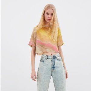 Zara tie-dyed crop top